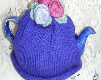 TEA COSY KNITTING Pattern, Rose Tea Cosy Knitting Pattern, Hand Knit Tea Cosy, Cozy Knitting Pattern, Tea Cosies Knitting Pattern