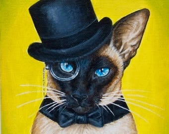 Siamese Cat...in a hat