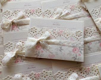 Invitaciones de boda florales de la boda invitaciones/romantico Boho / hecho a mano, invitaciones de boda / invitaciones de boda