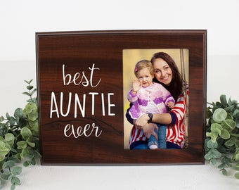 Gift for Aunt Picture Frame Best Auntie Ever