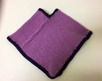 Girls Cape - Girls Poncho - Capelet - Crochet Poncho - Girls Clothing - Knit Poncho - Little Girl Clothes - Crochet Capelet - Summer Poncho