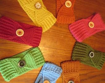 Crochet ear warmer headband wrap Adult instant download PDF permission to sell