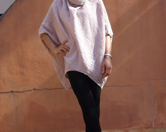 Cowl Neck Top ...Blouse ..Color Salmon Pink