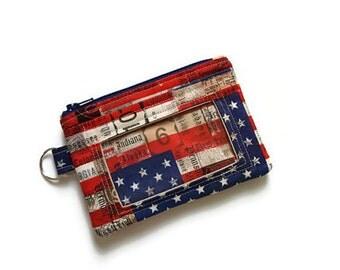American Flag ID Wallet / Keychain ID Wallet / ID Holder