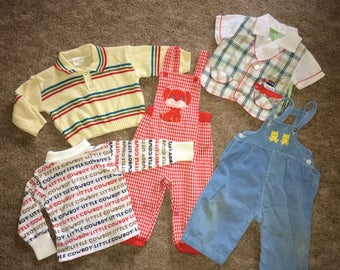 Vintage 1960's / 1970's Baby Boy Clothing Lot