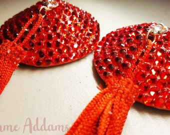 Pasties, Burlesque, Nipple Tassels, READY TO SHIP, Nipple Covers, Valentine's Day, Dancer