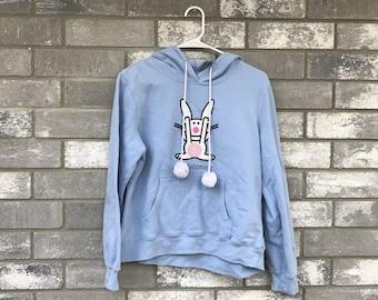 90s happy bunny not listening sweatshirt