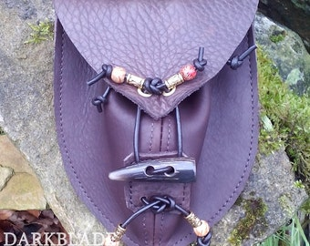 Leather Hunter Pouch for Larp, Cosplay, Costume or People who don't like Pockets