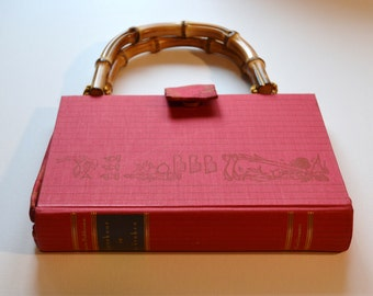 "Dutch ""Consultation in the Kitchen"" upcycled book purse"