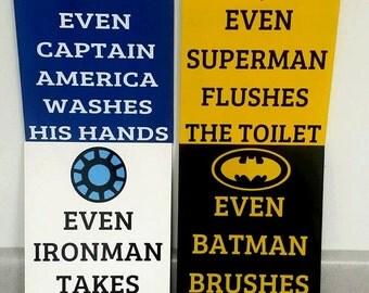 Superhero bathroom | Etsy