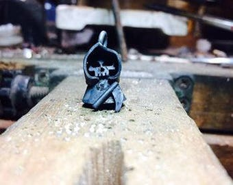 silver grim Reaper necklace