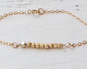 Dainty gold bracelet,gold bracelet,minimalist bracelet,layering bracelet,simple bracelet,gift for her,gold thin bracelet,21170