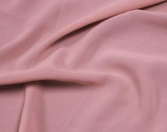 Mauve 59'' Poly Hi-Twist Chiffon Fabric  by the Yard, Chiffon Fabric, Wedding Chiffon, Lightweight Chiffon Fabric - Style 687