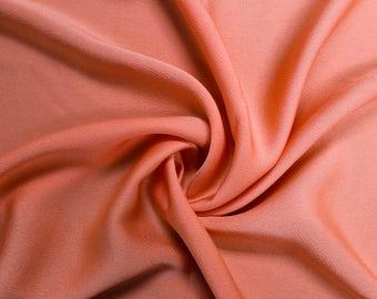 "Peach Dark Bubble Satin 59"" Fabric by the Yard - Style 701"