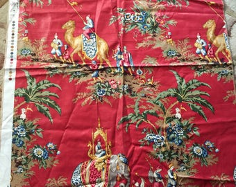 Country English Ethnic Toile Brunschwig & fils Beauport Promenade Fabric