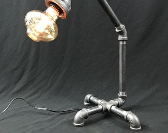 3 legged lamp Steampunk Induustrial Lamp  One of a Kind!
