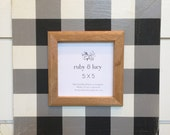 neutral black & white buffalo check custom distressed wood frame | farmhouse decor | gift for friend | gallery wall | Mother's Day | nursery