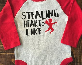 Stealing Hearts Like Cupid Valentines Day Shirt
