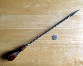 Vintage Chatillon Sail Maker's Needle Leather Canvas or Wool Working Tool Wood-handled Needle