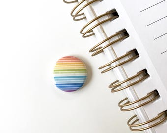 Rainbow Button. 1 inch pinback button. pinback buttons. Pinback. Gay pride Button.
