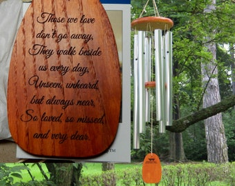 """Personalized Amazing Grace Wind Chimes """"THOSE WE LOVE"""" - Windchimes - Custom Chimes - Garden Memorial - Memorial Garden - Engraved Chimes"""