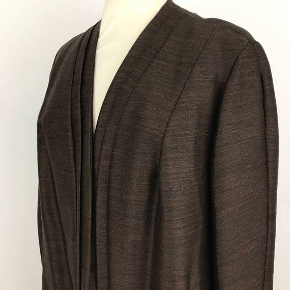 Vintage duster coat brown shot silk mix UK 18 plus