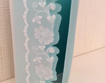 Card - Parchment Craft, flowers, blank, invitations,  wedding, birthday