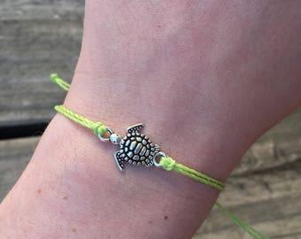 Custom Waterproof Sea Turtle Friendship Bracelet - Customizable