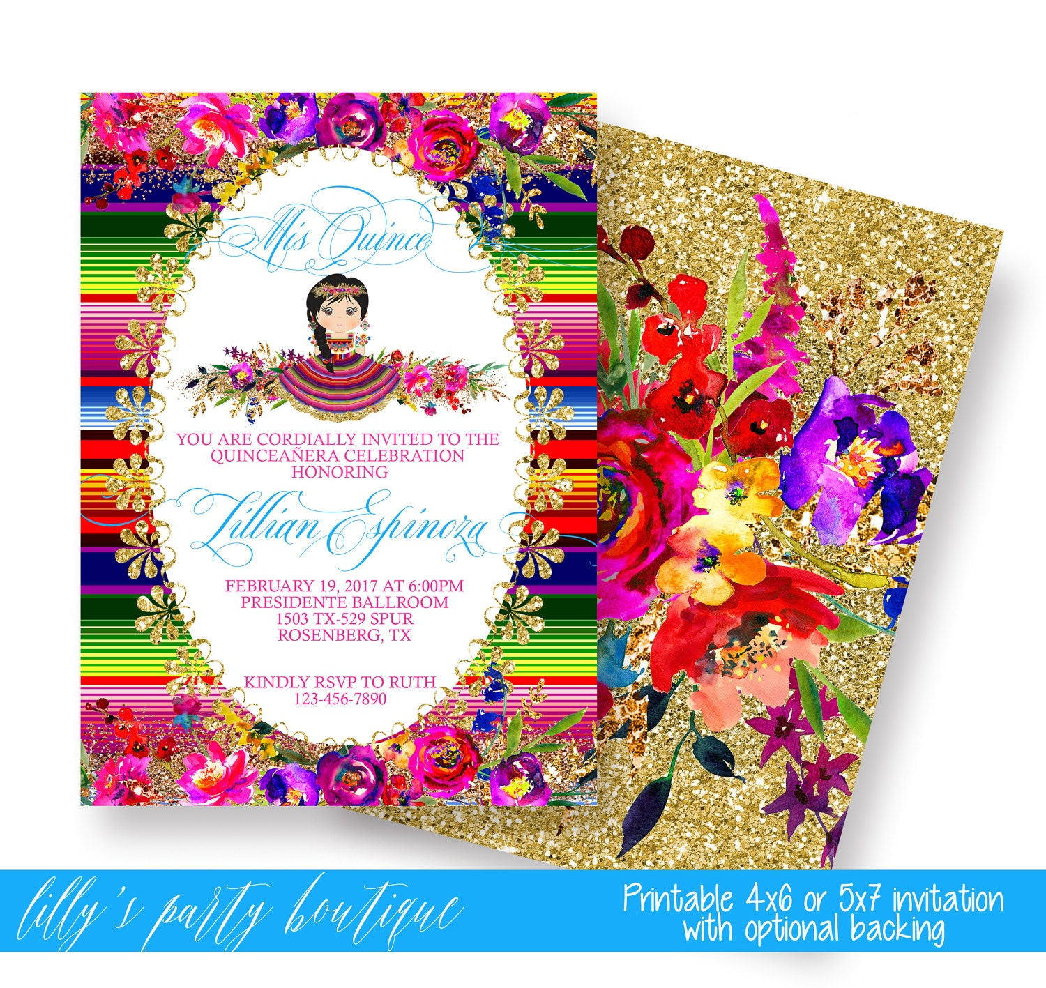 mexican themed powerpoint template - quincea era mexican fiesta invitationmexican quince invite