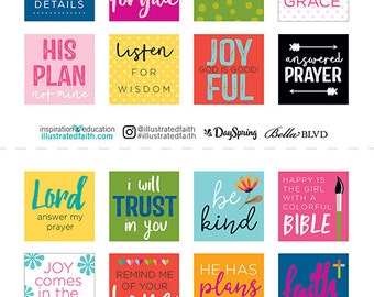 Illustrated Faith - Basics - Planner Word Art - 6x12 Stickers - 28 pieces - 1497