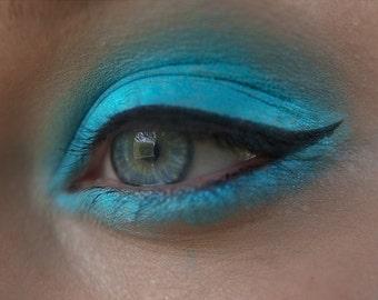 Eyeshadow: Dealer Artifacts - Mermaid. Matte blue eyeshadow by SIGIL inspired.
