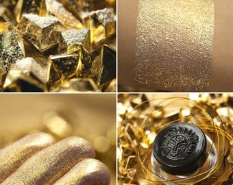 Eyeshadow: Crystals of Heliodor - Jewels Crystals. Gold shimmering eyeshadow by SIGIL inspired.