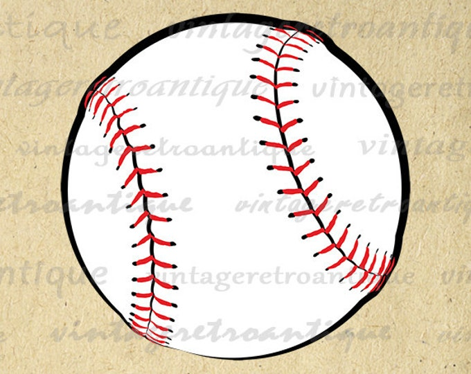Printable Baseball Art Sports Digital Image Baseball Seams Download Baseball Graphic Artwork Vintage Clip Art Jpg Png Eps HQ 300dpi No.3951