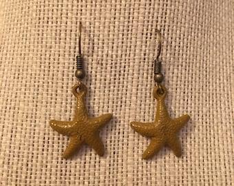 MustardYellow Starfish Earrings