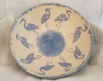 Great blue heron bowl.