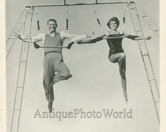 Jan and Wally Trapeze acrobats vintage circus photo