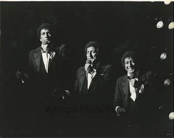 Tony Bennett singer double exposure vintage art photo
