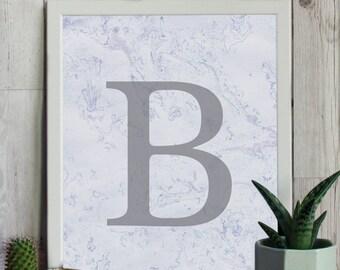 Marble Initials - Framed Prints, Bespoke Design, Cards & Gifts