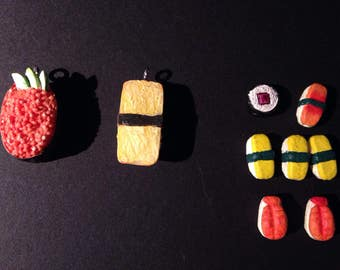 Sushi Shaped Beads and Pendants