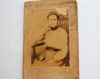 Antique Sepia Toned Victorian Woman Photograph