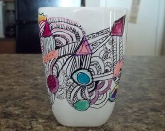 Psychedelic coffee cup