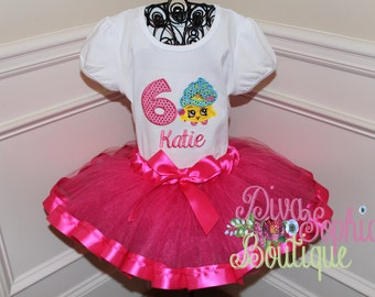 Shopkins Cupcake Ribbon Tutu Set - Birthday Tutu Set