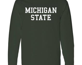 Michigan State Spartans Basic Block Long Sleeve T-Shirt