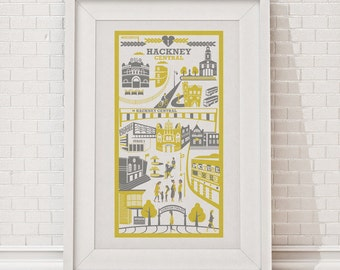 Hackney print / London illustration