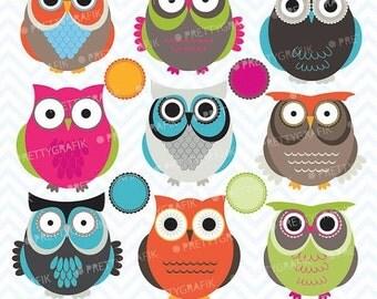 80% OFF SALE owl clipart commercial use, vector graphics, digital clip art, digital images  - CL545