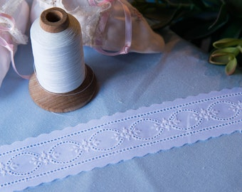 Swiss Embroidery Insertion - White on White