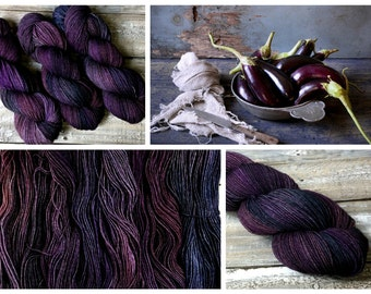 ARTFIL Masterpiece collection - Colour Eggplant - Eco Friendly Hand Painted Sock Yarn - Merino/Nylon