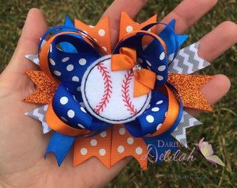 Detroit Tigers Baseball Bow