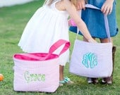 Easter Basket | Monogrammed Easter Basket | Personalized Easter Basket | Embroidered Easter Basket |  Easter Bucket