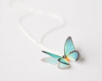 Butterfly Necklace, Gifts for Her, Bridesmaid Gift, Dainty Necklace, Turquoise butterfly